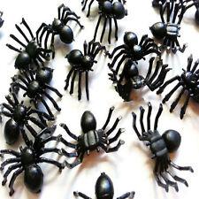 *50*pc Halloween Plastic Black Spider Joking Toys Realistic Prop Decoration