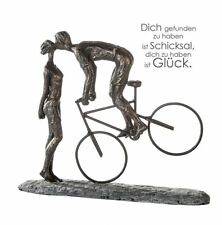79621 Sculpture Kiss Me Poly Bronze Figurine on Base Dark Grey