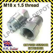 Lambda O2 Oxygen Sensor Extender Spacer for Decat & Hydrogen M18 x D4 hole STEEL
