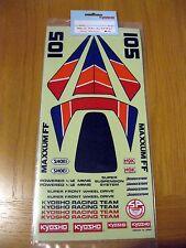 KYOSHO MAXXUM Vintage Original 1/10th scale decal set MA-15