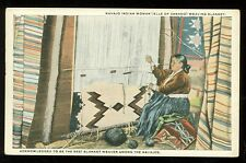 Elle of Canado, Navajo Blanket Weaving (unused 1915-30 post card(indiansA#210