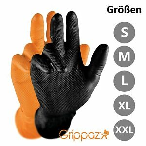 Grippaz Nonslip Gloves Heavy-Duty Mechanic Gloves Nitrile Touch Screen Box of 50