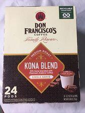 New listing Don Francisco's 24 Ct Kona Blend, Coffee Pods, Medium Roast Bb 9/21