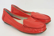 Geox Respira Coral Red Patent Leather Loafers Shoes Size EU 39 US 9