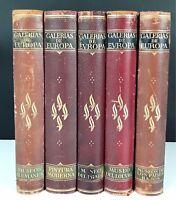 GALERIES DE L'EUROPE. 5 VOLUMES. PLUSIEURS AUTEURS. ÉDITION LABOR. S. XX.