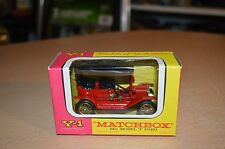 "Vintage Matchbox Lesney Model of Yesteryear Y-1 1911 Model ""T"" Ford NEW IN BOX"