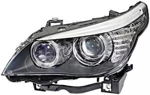 HELLA Halogen Headlight Right Fits BMW 5 E61 E60 Sedan Wagon 7177732