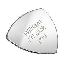 Personalizado Plateado I'd pick you Guitarra púa elegir-Grabado Gratis -