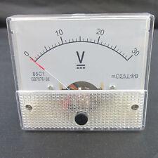 DC 30V Analog Panel Volt Voltage Meter Voltmeter Gauge 85C1 0-30V