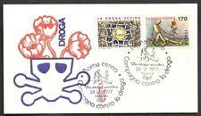 1977 ITALIA FDC VENETIA 425 LOTTA CONTRO LA DROGA - NO TIMBRO DI ARRIVO - IT6