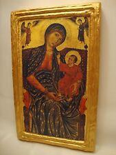 Virgin Mary Jesus Christ Rare Roman Catholic Icon Christianity Art