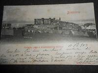 1903 CARTOLINA BRACCIANO CASTELLO LAGO E ACCAMPAMENTO MILITARE VIAGGIATA RARA