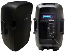 "New 12"" 300W Professional PA,DJ Powered Speaker USB/SD,Mic.RCA Input LCD Screen"