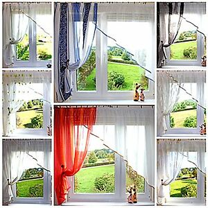 SALE!! wunderschöne 2 farbige Gardine Farben Muster 350/150 Küche, Kinderzimmer