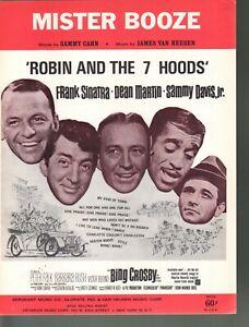 Mister Booze Robin and the 7 Hoods 1964 Frank Sinatra Bing Crosby Sheet Music