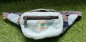 Natural Hemp & Cotton multicolor Bum Bag funky waist belt very trendy vegan