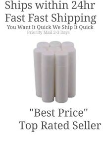 100 Balm Tubes & Caps Bulk New (empty) Natural Containers White USA