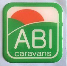 ABI CARAVAN MOTORHOME BADGE PLASTIC DOMED RESIN TO COVER UP HIDE DENTS SCRATCHES