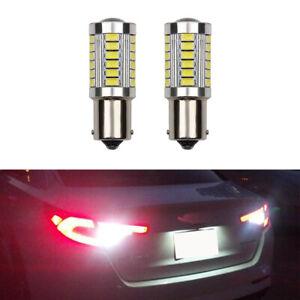 2X BA15s R10w 1156 245 33SMD LED Car Bulb Tail Brake Signal Side Light Bulbs UK