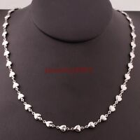 """Wholesale Lots Womens Silver Stainless Steel Lovely Heart Necklace Chain 18""""-30"""""""