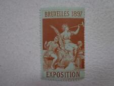 Belgium old vintage poster stamp -Cinderella Brussels 1897 Mnh