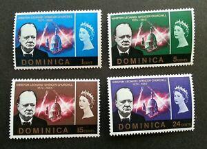 *FREE SHIP Dominica Winston Leonard Churchill Memorial 1966 (stamp) MLH