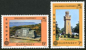 Guernsey 161-162, MNH. EUROPA CEPT. Memorial to Seamen. Victoria monument, 1978