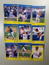 Nolan Ryan Rangers Astros HOF 1991 Platinum Set (9) Limited /1000,