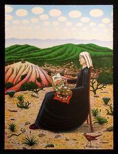 "David Bradley ""Georgia O'Keefe"" Signed & Numbered Lithograph, desert, MAKE OFFER"