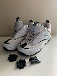 Men's boys Heelys size 6 lace up trainers skate shoes White Blue