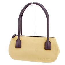faa88860ab2e miumiu Handbag Logo Beige Brown Woman Authentic Used T2607