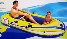 CLEAR WATER 2 MAN~INFLATABLE~RAFT FLOAT BOAT+OAR SET~KID PLAY OUTDOOR~BEACH LAKE