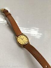 Ladies Gold Plated Vintage Omega De Ville Swiss Quartz Wrist Watch