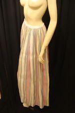60s Vintage Bohemian Harlequin Stripe Maxi Skirt S-M