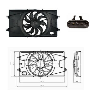 Radiator  & Condenser  Fan Assembly Fits: 2007 - 2009 Pontiac G5 L4 2.2L ONLY