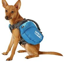 New Outward Hound DayPak Dog Adj Saddlebag Style Hiking Camping Sz Large Blue
