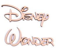 Wooden Script Word Set of 2 Disney Font Disney Wonder 25mm mdf