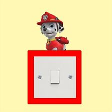 Marshall Paw patrol_Light Switch_ Wall Art _Funny Decal Vinyl Sticker