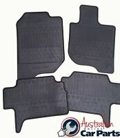 Floor Rubber Mats suits Mitsubishi Challenger PB PC 5 Seater Genuine Front Rear