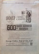 Second Hand Machinery, King Canute, Antique Advert, Engineer April 1944
