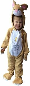 Girls Boys Childrens The Gruffalo Mouse Animal Fancy Dress Age 3-10 Year Costume