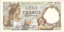 Billets de 100 francs français sur Sully