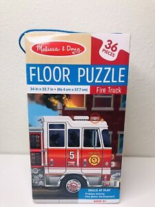 Melissa & Doug - Fire Truck 36 PC Floor Puzzle - 34in x 22.7in New Sealed
