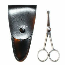 """4"""" Mini Curved Mustache Nose Ear Hair Remover Scissors Trimmer w/ Safety Tips"""