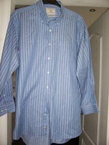 "Mans shirt 18"" by Brook Taverner luxury shirtmaker, multi coloured"