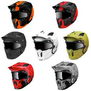 MT Streetfighter Modular Motorcycle Helmet Crash Lid Urban With Mask Adventure