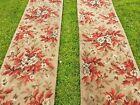 22ft of vintage floral carpet stair runner 18 inch wide