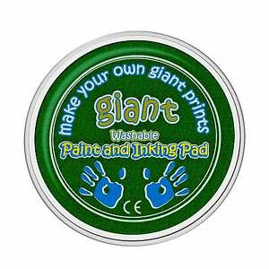Giant GREEN Paint Pad (15cm) - Hand, Printing, Stamping, Arts & Crafts, Children