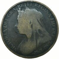 1895 ONE PENNY GB UK QUEEN VICTORIA (VEILED)     #WT21313