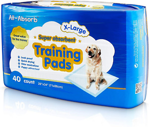 All-Absorb Extra Large Training Pads 28-inch by 34-inch, Pack of 40